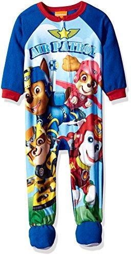 Sports Footed Sleeper (Nickelodeon Toddler Boys' Paw Patrol Fleece Footed Blanket Sleeper, Sky Patrol Blue, 2T)