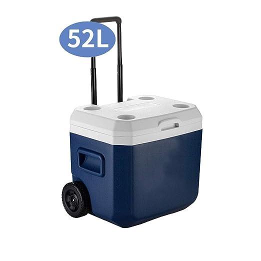 Refrigerador / calentador portátil con capacidad de 52L con ruedas ...
