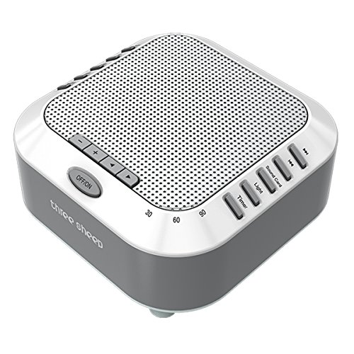 three sheep White Noise Machine Sound Machine, Music Player with Night Light, Preset 5 Soothing Sounds, Timer, and Rechargable Battery (sliver) by three sheep (Image #1)