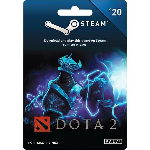 amazon com valve dota 2 steam wallet card 20 video games