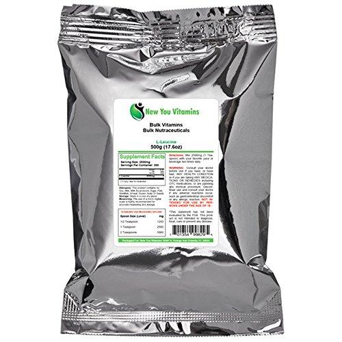 L-leucine poudre par New Vous vrac vitamines 100% Pure vrac L-leucine poudre 100g (100 grammes) 3,5 onces (3,5 oz)