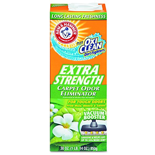 Arm & Hammer Extra Strength Odor Eliminator for Carpet and Room, 30 Ounce (Pack of 6) (Pet Stain And Odor Remover Arm And Hammer)
