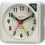 Acctim Ingot Travel Alarm Clock White