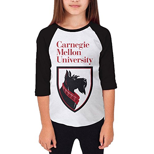 Price comparison product image Amone Youth Girl's Baseball Raglan Carnegie Mellon Shirt Black M