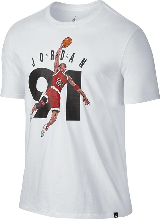 NIKE AJ 6 Ninety One tee Camiseta Línea Air Jordan, Hombre, Blanco, S: Amazon.es: Deportes y aire libre
