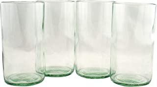 product image for Tumblers Flat Bottom Made From Recycled Wine Bottles - set of 4 (Clear, 16 Oz)