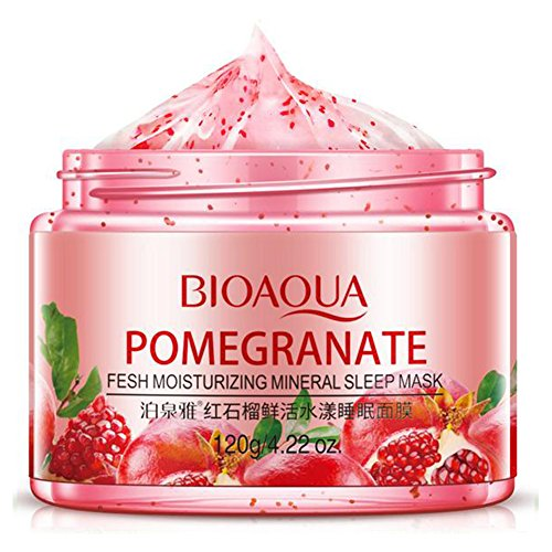 red pomegranate sleeping mask face