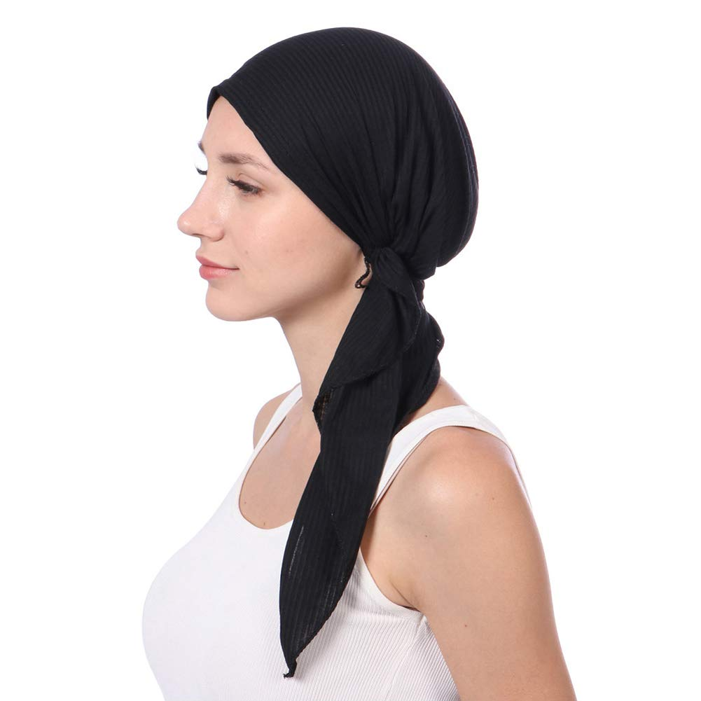 Cancer Chemo Scarves for Women, Pre-Tied Turbans Headwraps Hair Loss Headwear Cancer Hats