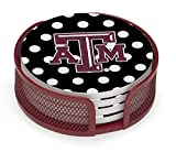 Thirstystone VTXAM3-HA22 Stoneware Drink Coaster Set with Holder, Texas A and M Dots
