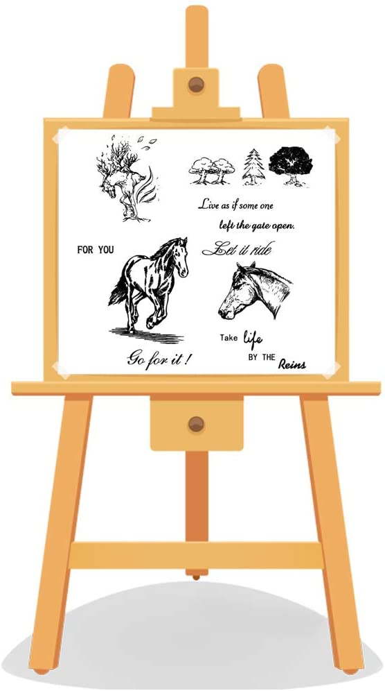 Horse DIY Silicone Clear Stamp Cling Seal Scrapbook Embossing Album Decor Craft