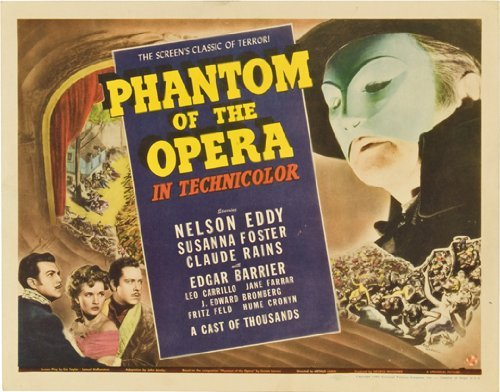 The Phantom of the Opera POSTER Movie (22 x 28 Inches - 56cm x 72cm) (1943) (Half Sheet Style (22 Half Sheet Movie Poster)