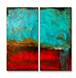 Blue Monday' Modern Metal Décor Contemporary Wall Hanging Abstract Wall Art Erin Ashley