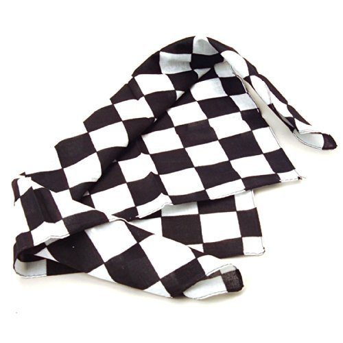 12 Pack Checkered Flag Bandanas - Racing Party Favors