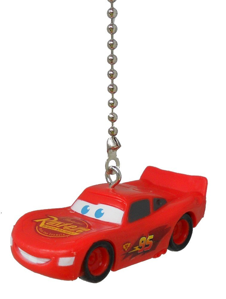 Disney classic CARS movie assorted Character Ceiling FAN PULL light chain (Lightning McQueen)