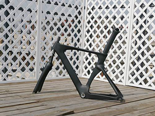 Full Carbon Matt Time Trial Triathlon Bike Frameset : 56CM TT Bicycle Frame, Fork, seatpost, seat nut