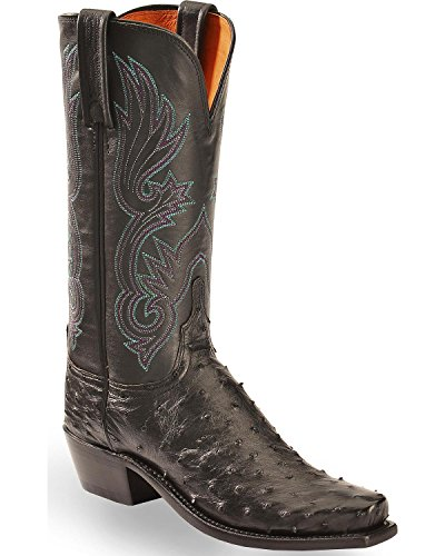 Ladies Full Quill Ostrich Boots - Lucchese Women's Handmade Dolly Full Quill