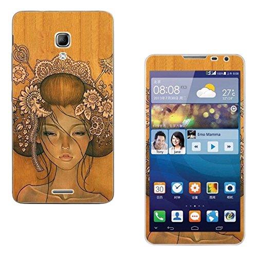 Seeme Full Body Vinyl Decal Protective Sticker Skin for Huawei Ascend Mate 2 (Geisha)