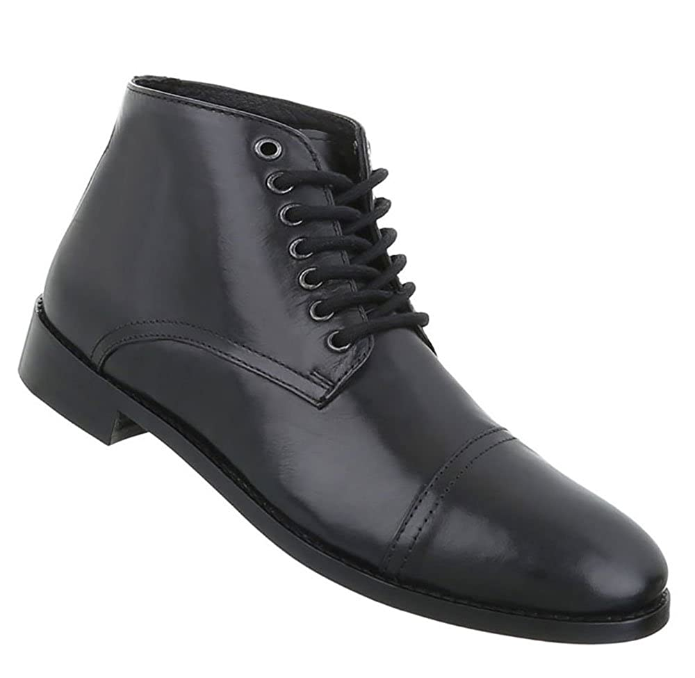 Herren Schuhe Business-Schuhe Used Optik Leder Schnürer