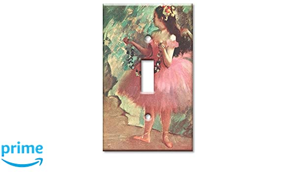 Degas Dancer in Rose Dress Switch Plate Art Plates Single Toggle