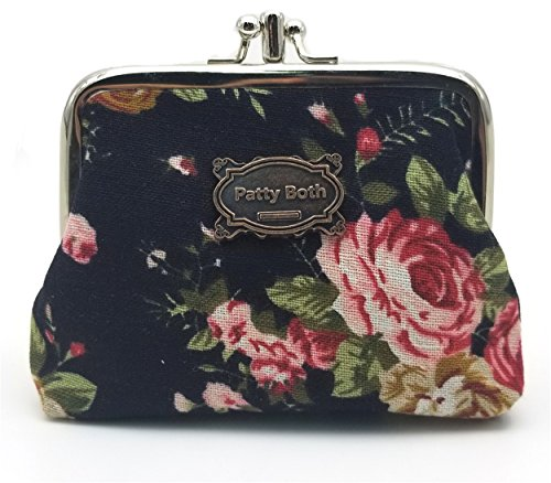 (Cute Classic Floral Exquisite Buckle Coin Purse-Patty Both (10))