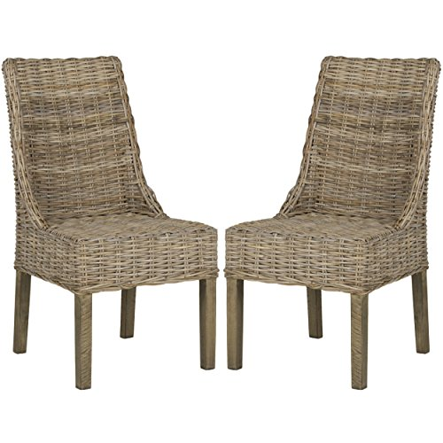 (Safavieh Home Collection Suncoast Natural Dining Chair (Set of 2))