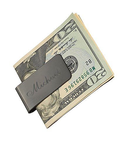 Engraved Free Polished Steel Money Gun Clip Side on Engraving Front Stainless wCBdxCYr