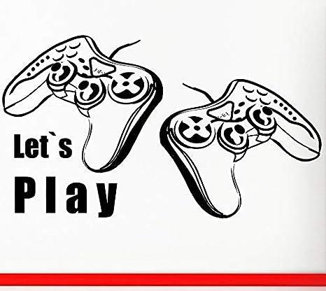 fancjj Adhesivo de Videojuegos Play Decal Gaming Posters Gamer ...