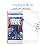 Annant Entp. Premium Quality 2.5D Tempered Glass Full Screen Coverage With 0.3mm Pro+ Anti-Fingerprints & Oil Stains Coating HD+ Quality Tempered Glass Screen Guard Protector With Original Packaging Kit For OnePlus 3/ 1+3T/ One Plus 3T - (White)