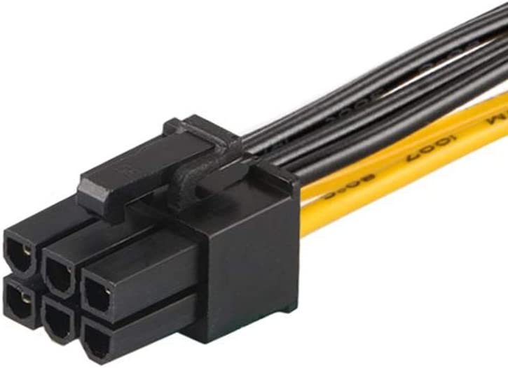 PCIe J/&D 4-Pack SATA 15 Pin to 6 Pin PCI Express Graphics Video Card Power Cable Adapter 20 cm