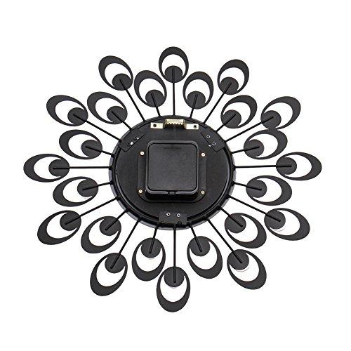 Colorfulworld Modern Luxury Crystal Flower Wall Clock Silent Quartz 3D Home Decor (Silver)