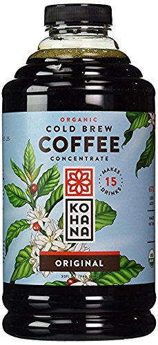Kohana Organic Cold Brew Coffee Concentrate 32 oz (Pack of 2)