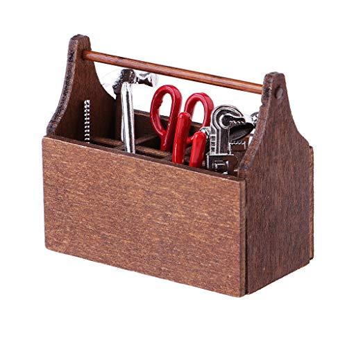 FidgetGear 1:6 Scale Brown Toolbox Tools Models for 12'' Soldier Doll Accessories DIY from FidgetGear