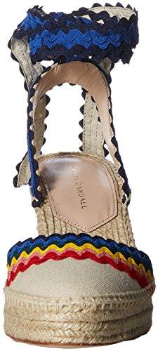 Loeffler Randall Women's Ginny Espadrille Wedge Sandal Natural/Rainbow ibBjGZK