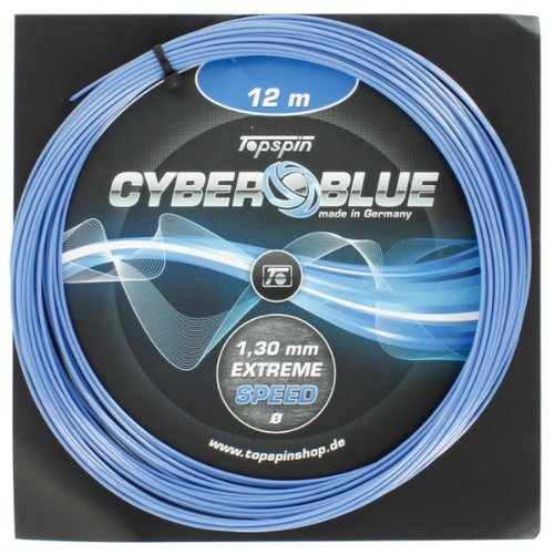 - Topspin CyberBlue 1.30MM/16G Tennis String (Blue)