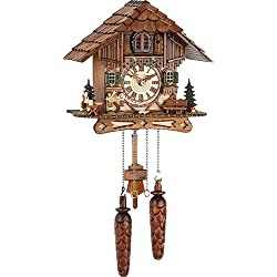 German Cuckoo Clock Quartz-movement Chalet-Style 10 inch - Authentic black forest cuckoo clock by Trenkle Uhren by Trenkle Uhren