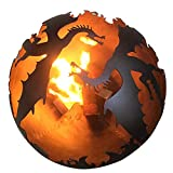 "Flying Dragon 28"" Fire Pit Globe"