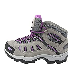 Hi-Tec Women's Bandera Mid-Rise Waterproof Hiking Boot (9 B(M) US, Grey/Viola)