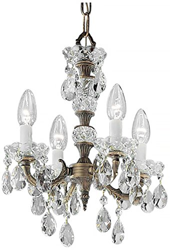 Classic Lighting 5534 RB C Madrid, Crystal Cast Brass, Mini-Chandelier, 13
