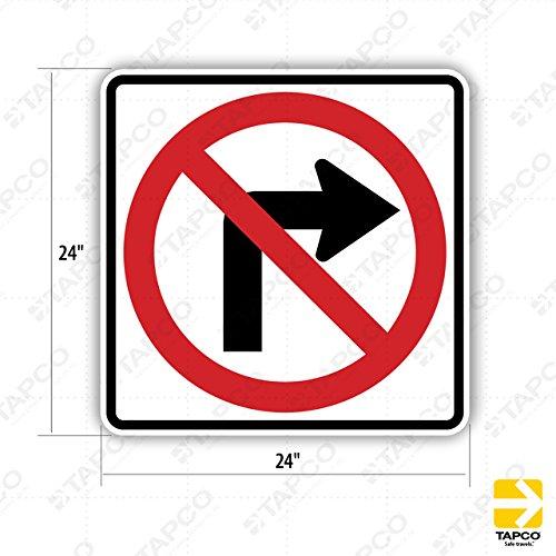Tapco R3-1 Engineer Grade Prismatic Square Standard Traffic Sign, Legend