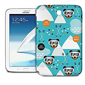 Phone Case For Samsung Galaxy Note 8.0 N5100 - Ski Fun Bears Lightweight Wrap-Around by lolosakes