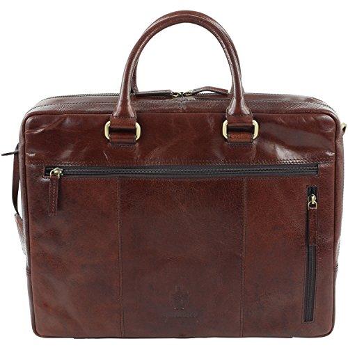 Leonhard Heyden Cambridge 13'' Briefcase with Laptop Compartment 5261-007 braun
