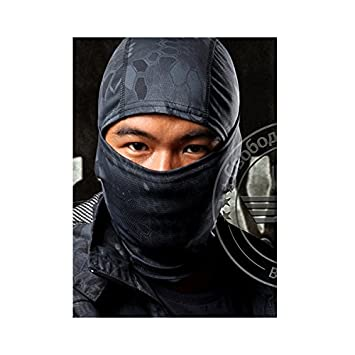 atairsoft Ninja/militar la cara llena máscara pasamontañas ...