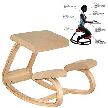 Amazon Com Vevor Ergonomic Kneeling Chair Beech Wood