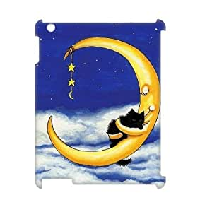 Sun and Moon, Cat Customized 3D Case for Ipad 2,3,4, 3D New Printed Sun and Moon, Cat Case