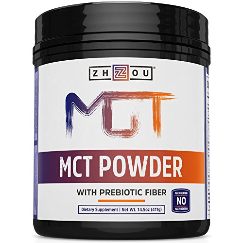 MCT Oil Powder with Prebiotic Acacia Fiber - Zero Net Carbs - Keto Friendly Fat & Fiber Source for Sustained Energy, Gut Health - Easy to Digest - for Coffee, Smoothies & More!