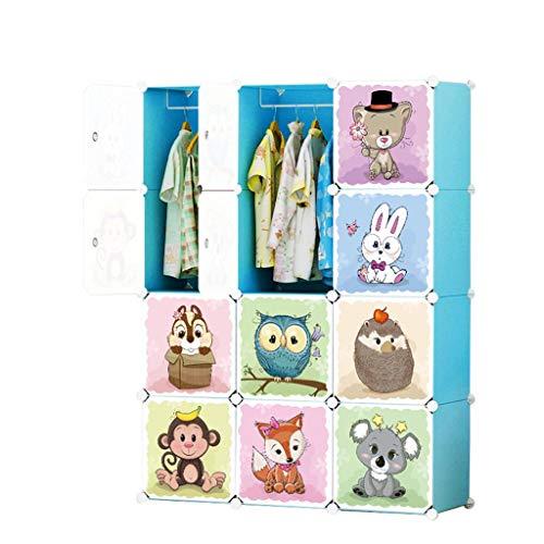 Armario de almacenamiento Suministros combinados simples Armario for niños Armario portátil Muebles simples de 12 cubos