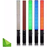 YONGNUO YN360 Handheld LED Video Light 3200k 5500k RGB Colorful 39.5CM ICE Stick Professional Photo LED Stick With EACHSHOT Cleaning Cloth