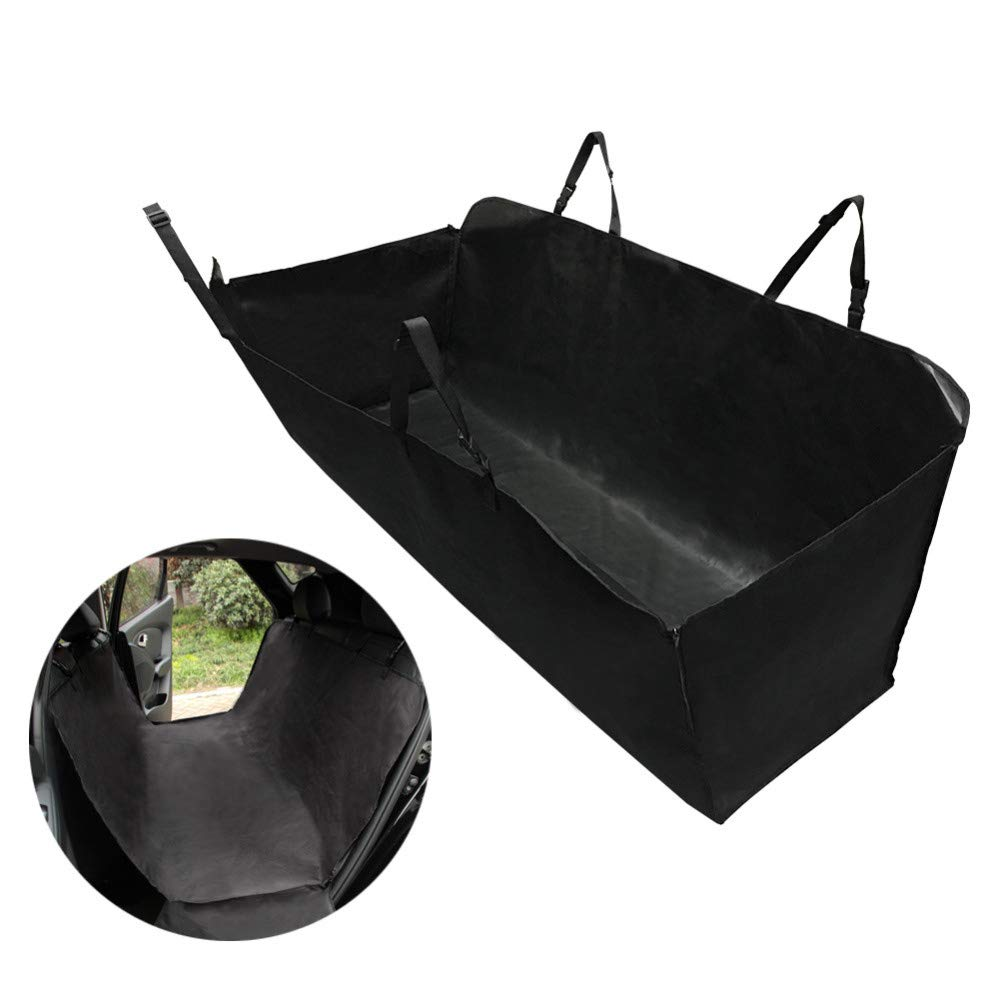 Black Pet Dog Car Seat Cover Fold Waterproof back seat cover Hammock CongreenibleSeat Fits Most Cars