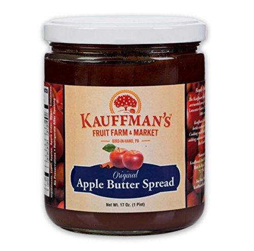 Kauffman's Homemade Original Apple Butter, 17 Oz. Jar (Pack of 2 Jars)