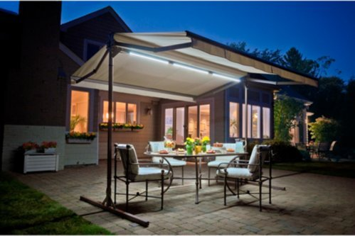 Awning Lights Dimming LED SunSetter, Four Different Brightness Settings Let You Set The Perfect Mood, Remote Can Be Programmed Adjustable Light Level Fit with SunSetter Retractable Awnings Only.